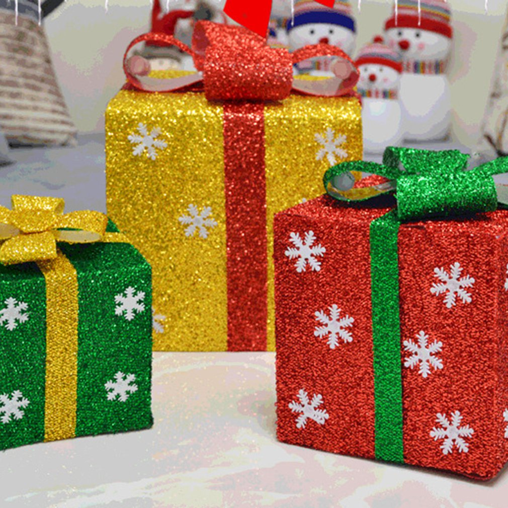 Christmas Gift Box Packaging Decorations Scene Tree With