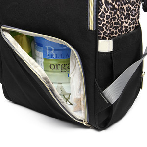 Image 5 - Leopard Diaper Bag Waterproof Maternity Bag Nappy Bags Large Capacity Baby Backpack Bag Travel Mummy Bag Nursing Bag