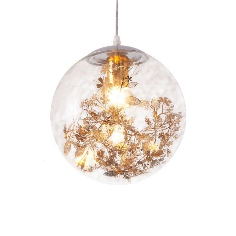 Contemporary Round Glass Ball Chandelier Hanging Ball Lights Crystal Ball Pendant Light Kitchen Dining Bar hanging lamp|Pendant Lights| |  - title=