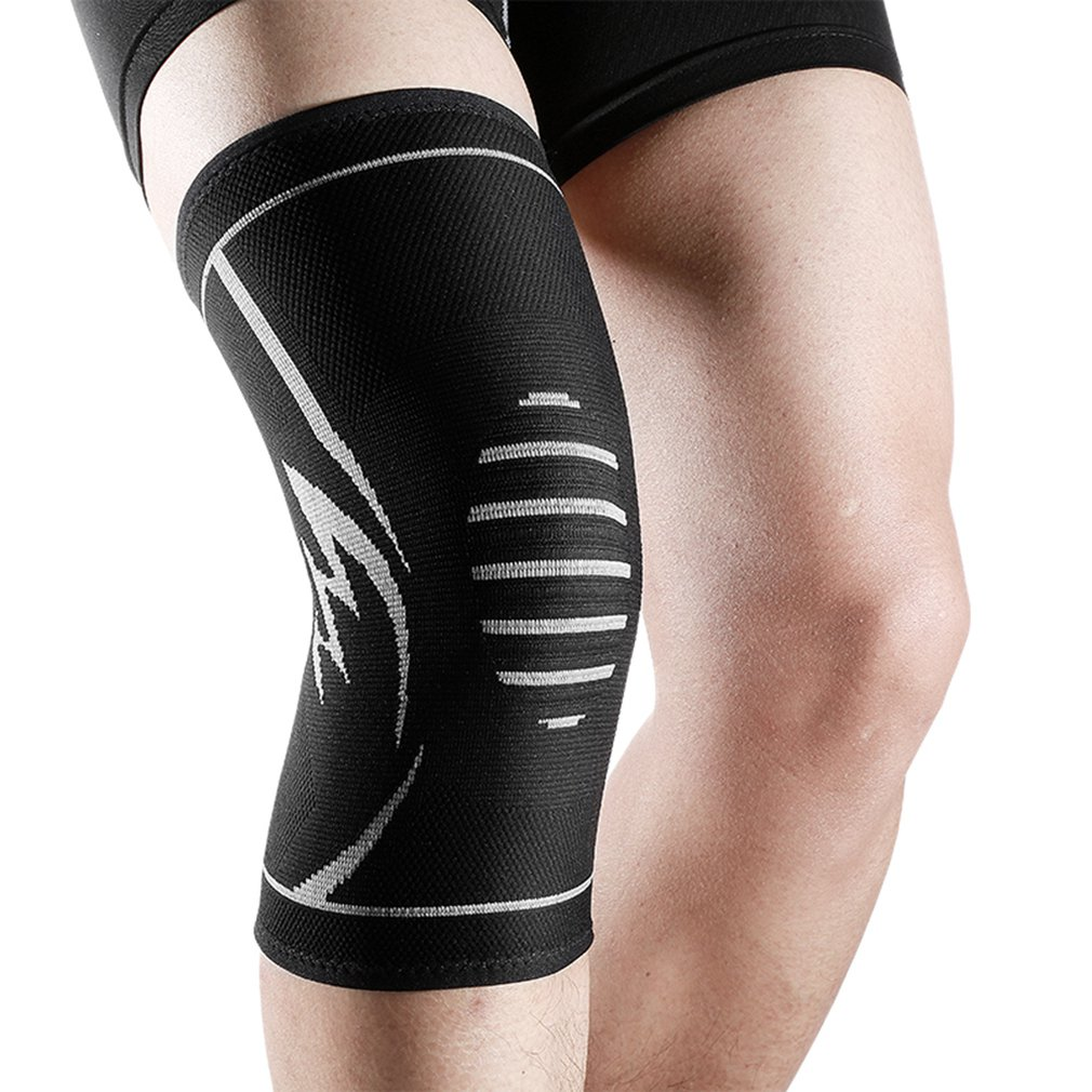 1PC Knit Knee Pads Durable Nylon Knees Brace Sports Protecting Pads Ultra Thin Knees Support Safety Kneepad Balck For Sports