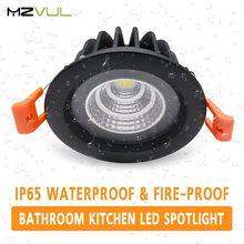 IP65 Fire-prova À Prova D' Água LEVOU Downlight 15W 12W 7W 5 W Recesso CONDUZIU a Lâmpada Spot Light LEVOU para cozinha casa de banho de banho de sauna a vapor