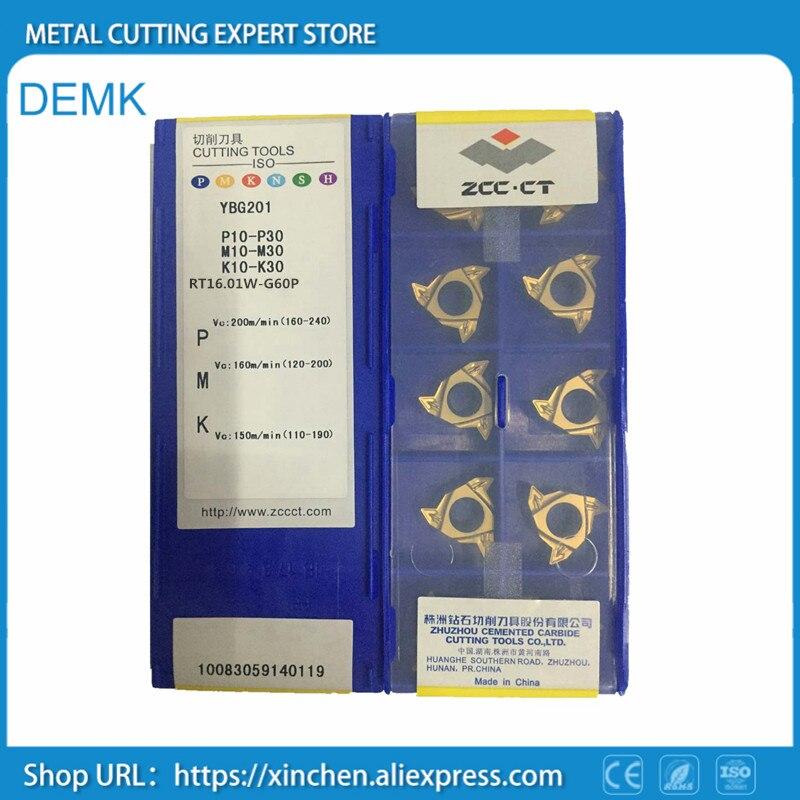 10PCS//Box   ZCCCT Drilling CNC Blade RT22.01N-N60P YBG201