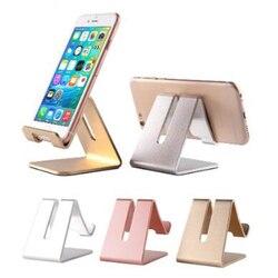 Универсальная настольная подставка для планшета, противоударный металлический держатель телефона, прочный алюминиевый держатель для моби...