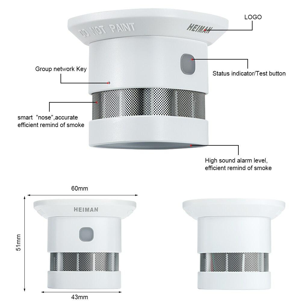 Ultimate SaleHEIMAN Alarm Z-Wave Smoke-Detector Fire-Protection Wireless-Sensor Smart Home-Security