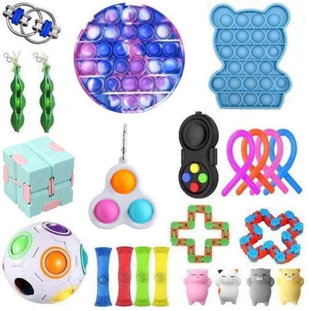 Fidget-Toys Gift-Pack Anti-Stress-Set Pop-It Squishy Relief Stretchy-Strings Sensory img1