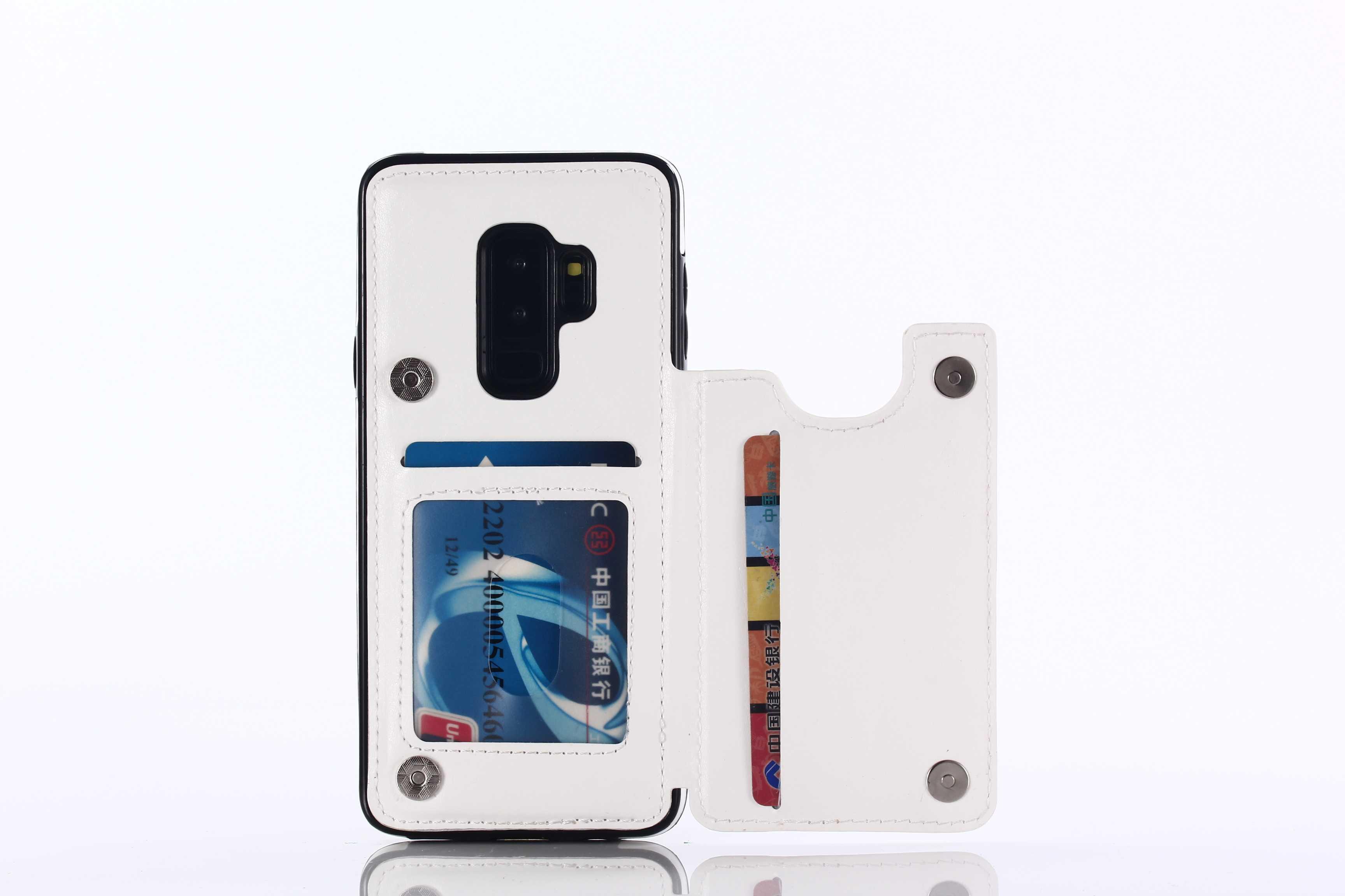 -Dois botões nova carteira flip para Samsung Galaxy S7 S7 Borda S8 S8 Plus S9 S9 Plus S10 S10 além de Note8 9 TPU suporte capa de couro