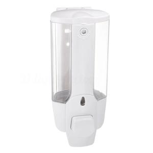 Image 2 - קיר רכוב שמפו סבון Dispenser Sanitizer אמבטיה מקלחת נוזל משאבת קרם (לבן)