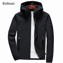 Jacket Men Zipper New Arrival Brand Casual Solid Hooded Jacket Fashion Mens Outwear Slim Fit Spring and Autumn High Quality K11
