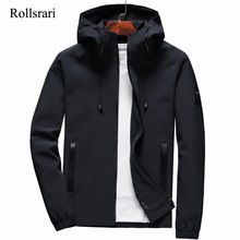 Hooded Jacket Outwear Zipper Autumn Men's Spring Slim-Fit Casual Fashion Brand Solid
