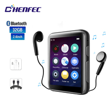 Mp4 player bluetooth CHENFEC C5, com alto falante, tela de 2.5 polegadas touch completa, hifi, sem perda, com rádio fm, gravador