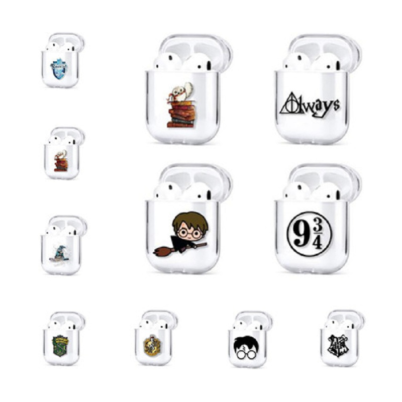 Harri Potter Case Earphones Airpods Case Cartoon Pictures Dobby Death Triangle Bluetooth Wireless Earphone Protective Cover Box