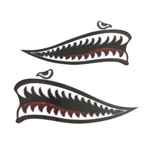 Image 5 - Adesivo de vinil para dentes de tubarão, adesivo para decalques de motocicleta harley sportster xl883 xl1200 iron 48 72 universal