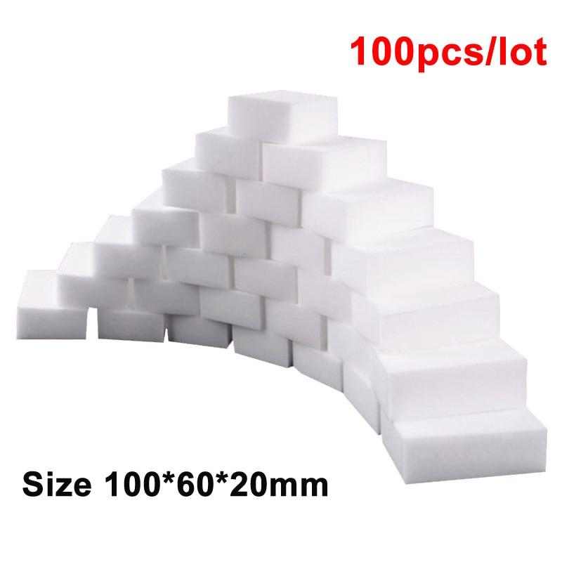 100 pcs/lot Melamine Sponge Magic Sponge Eraser Melamine Cleaner for Kitchen Office Bathroom Home Nano Cleaning Sponges 10x6x2cm|Sponges & Scouring Pads|   - AliExpress