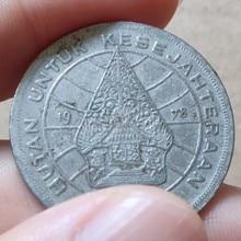 28 мм индонезийская 1978, настоящая комеморная монета, оригинальная коллекция