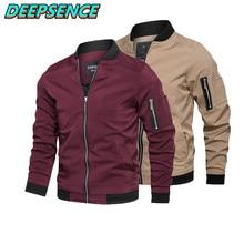 Primavera outono moda casual casaco masculino inglaterra fique pescoço sólido zíper bolsos streetwear simples jaquetas homens plus size 5xl