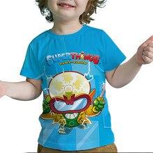 Crianças super zings série 7 3d impressão camiseta verão crianças superzings t camisas meninos meninas adolescentes dos desenhos animados anime tshirt da criança t