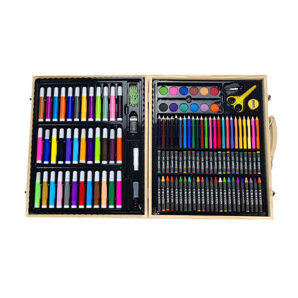 Children Stationery Student Office Art Set Watercolor Pen For Drawing Storage Case Gift Brush Painting Multi Color Crayon