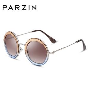 Image 1 - PARZIN 여성 빈티지 편광 선글라스 UV400 럭셔리 브랜드 라운드 태양 안경 여성 유행 안경 운전에 대 한