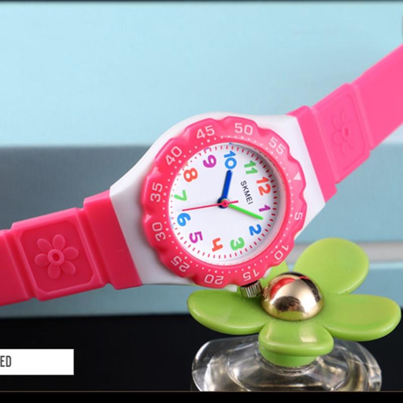 Kids Watch Waterproof Children Watches Multi-color Red Green Blue Orange Quartz Wristwatch For Boys Girls Clock SKMEI
