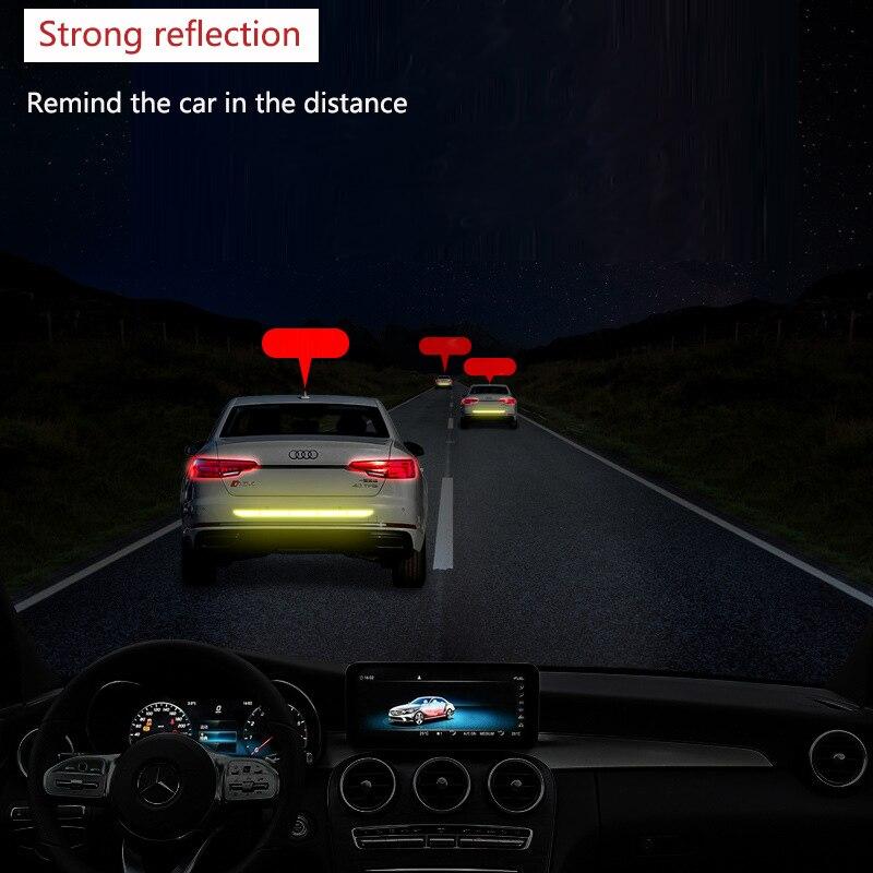 Нано Светоотражающая наклейка для автомобиля Предупреждение льная лента бесследная Защитная Наклейка для автомобиля предупреждающая на кузов багажника внешние автомобильные аксессуары