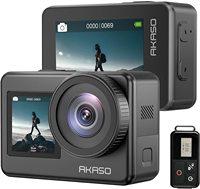 AKASO-Cámara de acción Brave 7 4K30FPS 20MP, WiFi, pantalla táctil, Vlog, EIS 2,0, Zoom, Control de voz, impermeable, micrófono de soporte