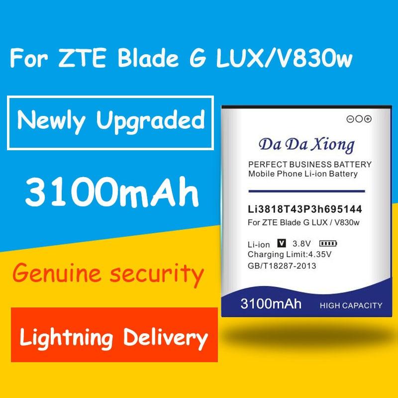 Бесплатная доставка 3100mAh Li3818T43P3h695144 батарея для ZTE V830w Kis 3 Max для ZTE Blade G LUX запасная батарея