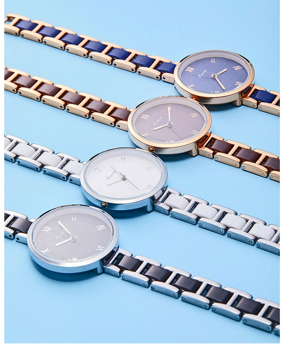 simples grande dial senhoras relógio de quartzo