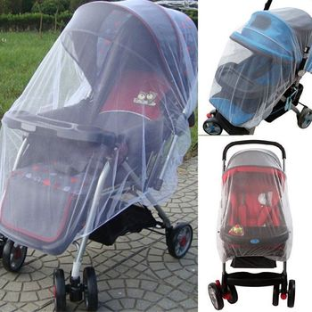 Newborn Infant Baby Stroller Pushchair Mosquito Insect Net Safe Mesh Buggy(White/Blue/Pink/Purple)
