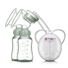 Zimeitu двойные электрические молокоотсосы мощный всасывающий Usb Электрический молокоотсос с детской бутылочкой для молока холодная грелка Nippl