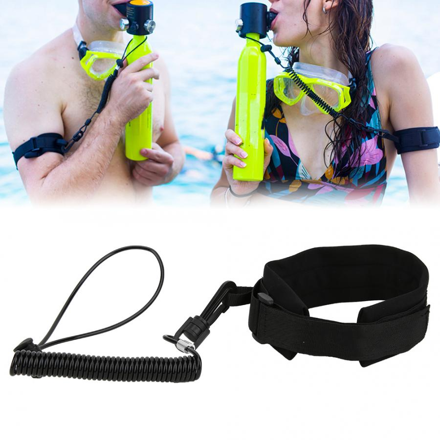 Portable Diving Lanyard Anti-Lost Rope Spring for Underwater Emergency Rescue Oxygen Bottle Accessory diving equipment(China)