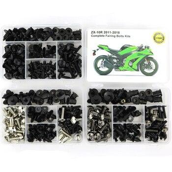 Полный Комплект болтов обтекателя, комплект стальных зажимов для обтекателей, гайки для Kawasaki ниндзя ZX10R ZX-10R 2011 2012 2013 2014 2015 2016 2017 2018