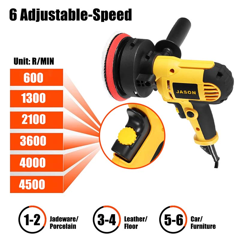 700W Auto Polierer Grinder Variable Geschwindigkeit 3000rpm 100mm Autolack Pflege Werkzeug Polieren Maschine Sander 220V elektrische Wachsen Maschine