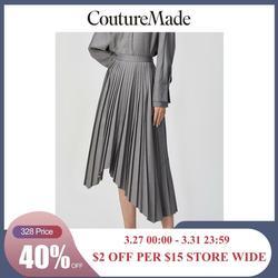 Женская плиссированная юбка со съемным поясом в стиле OL Vero Moda | 319416506