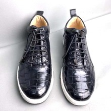difutouzi Source manufacturer  new style crocodile ? skin men shoes Men leisure High help Men's Package mail