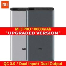 Xiaomi Mi 3 Pro 10000 mAh Power Bank 2 Way Quick Charge USB C Dual อินพุตเอาต์พุต PLM12ZM 10000 mAh powerbank สำหรับโทรศัพท์มือถือ