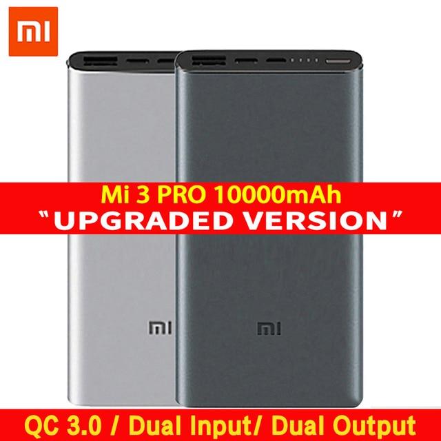 Внешний аккумулятор Xiaomi Mi 3 Pro, 10000 мАч, быстрая зарядка в два направления, внешний аккумулятор PLM12ZM 10000 мАч для телефона