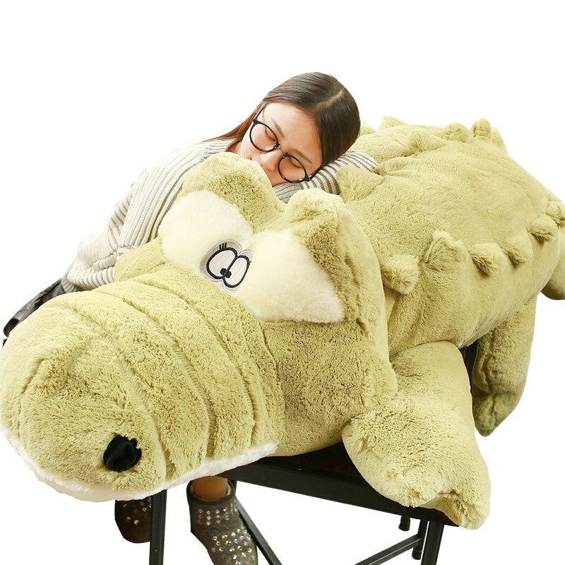 [Drôle] grande taille 150cm doux crocodile poupée en peluche jouet animal coton tenir oreiller décoration de la maison enfant adulte cadeau d'anniversaire