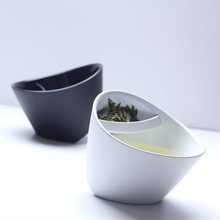 Creative Filter Teacup Plastic Tilt Tea Cup Tipping Personalized Clever Smart With Infuser 250ml