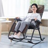 A1Senior Rocking Chair High Back Armchair with Headrest for Elderly Portable Chaise Lounge Versatile Garden/Outdoor Furniture