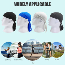Solid Color Breathable Bandana Pirate Cap Headscarf Quick Drying Outdoor Cycling Riding Sports Running Headwrap Hat