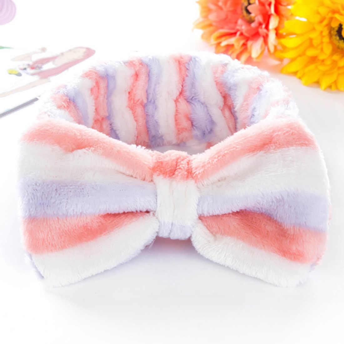 Cinta para el pelo con estampado de lunares, cinta para el pelo con lazo suave Coral para mujer, accesorios para el cabello, turbante, 2020