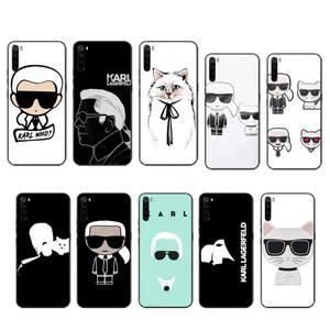 Lagerfeld Brand designer KARLs case coque fundas etui for xiaomi note max mi 3 7 8 9se Redmi 7 7a 8 8t 10 pro lite cases cover(China)