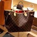 Модная Сумка-тоут из супер-миграционной кожи, винтажная женская сумка через плечо с логотипом, кошелек