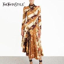 TWOTWINSTYLE גבוה שמלות ארוך
