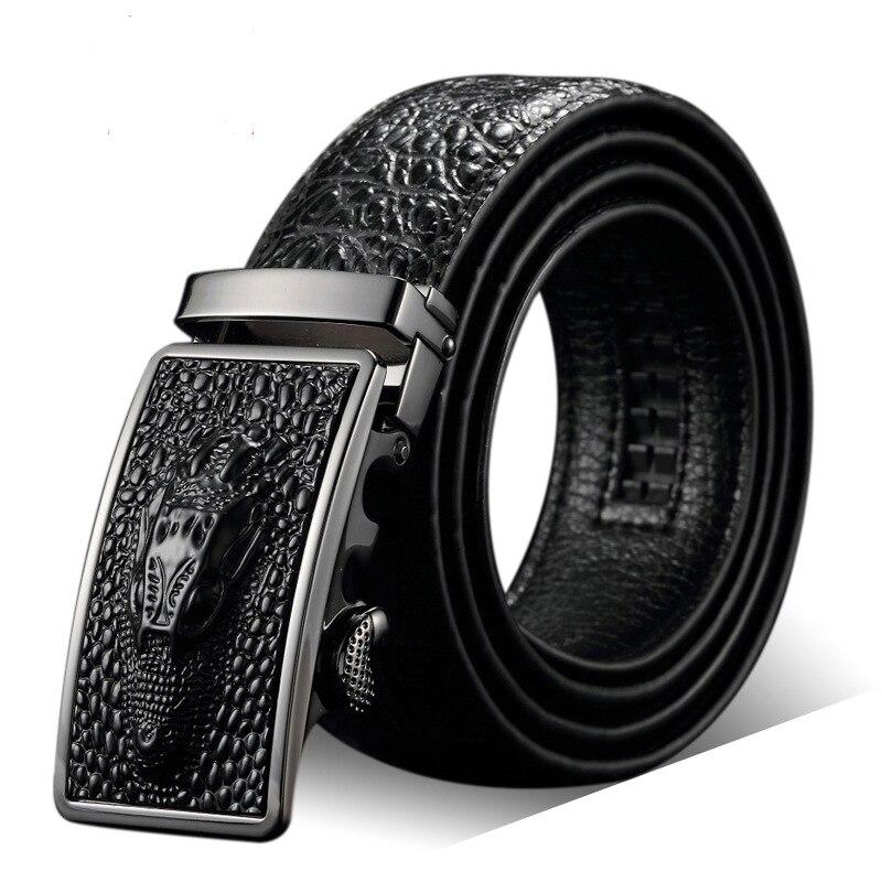 Boucle automatique ceinture hommes véritable cuir de vache ceintures pour hommes élégant ceinture formelle ceinture homme luxe marque