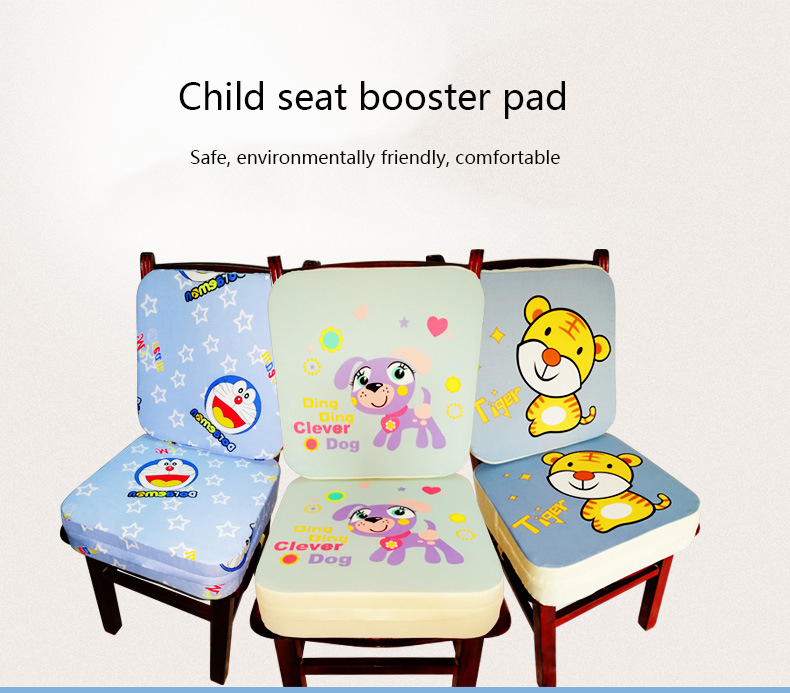 Children Dining Increased Cushion Chair Cartoon Pad Soft Baby Cushion Adjustable Removable Chair Booster Cushion Pram Chair Pad