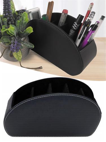 Caixa de Armazenamento De couro Multifuncional caixa de Artigos Diversos de Desktop Organizador de Maquiagem Caixa de Armazenamento de Escritório Em Casa Controle Remoto Estande Titular