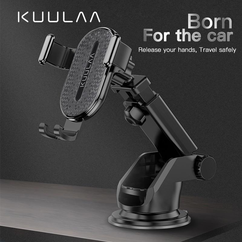 KUULAA, ventosa de gravedad para parabrisas, soporte para teléfono móvil para iPhone X 11 Pro, soporte para teléfono en coche, soporte para teléfono inteligente, soporte de coche