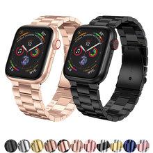 Браслет звеньевой для apple watch band 42 мм 38 44 40 металлический