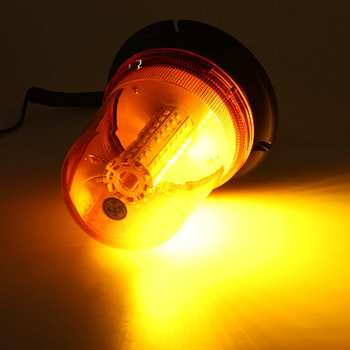 Hot 12-24V 80 LED Magnetic Mount Rotating Flashing Amber Dome Beacon Recovery Warning Light